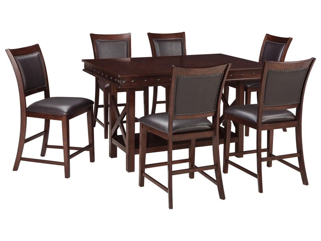 Signature Design by Ashley Collenburg7-Piece Counter Table Set