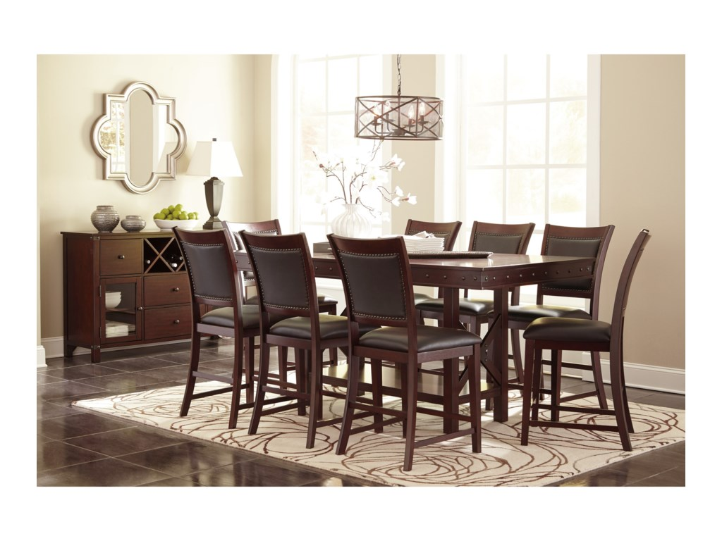 Signature Design by Ashley Collenburg9-Piece Counter Table Set