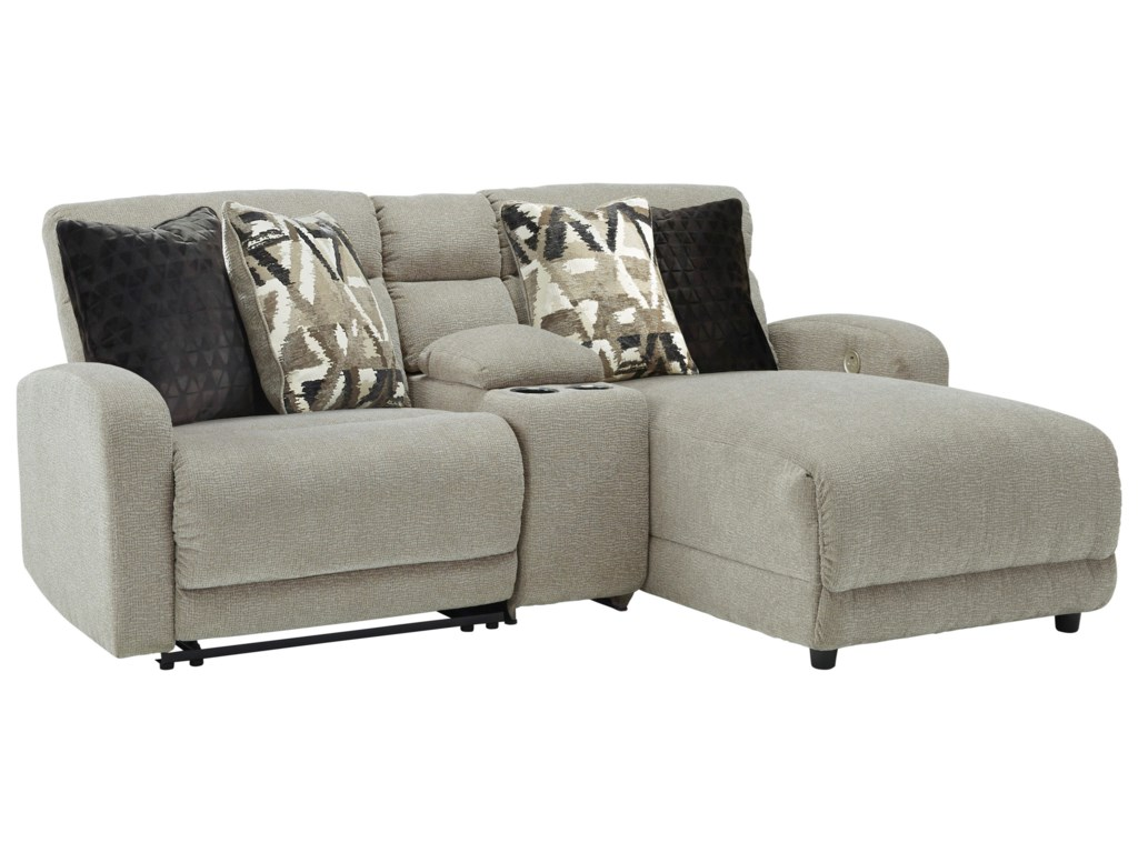 Signature Design by Ashley Colleyville3-Piece Power Recl Sectional with Chaise
