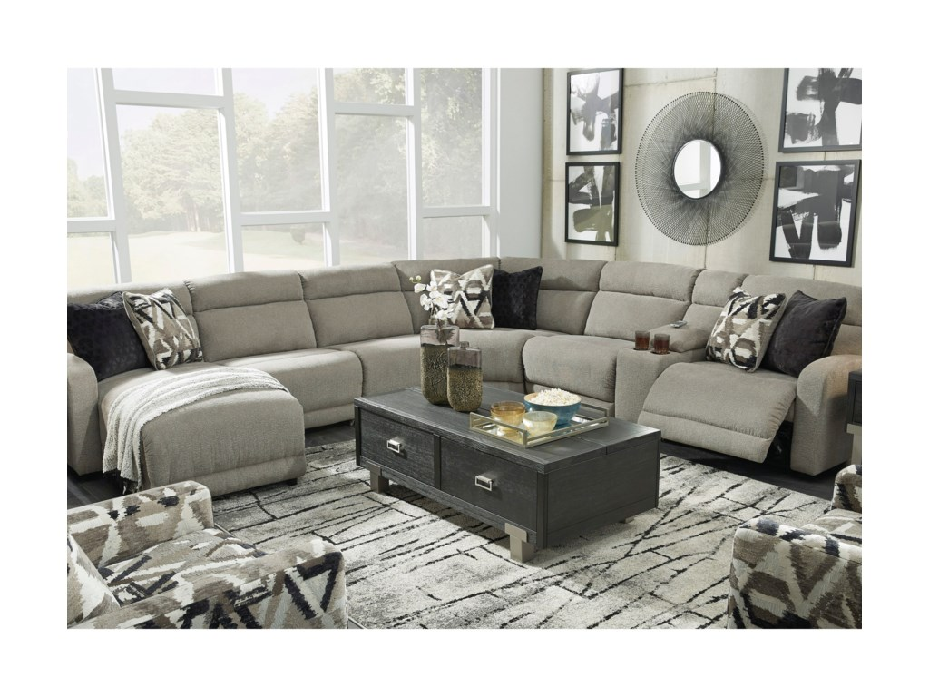 Signature Design by Ashley ColleyvillePower Reclining Sectional