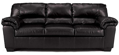 Signature Design by Ashley Commando - Black Casual Stationary Sofa