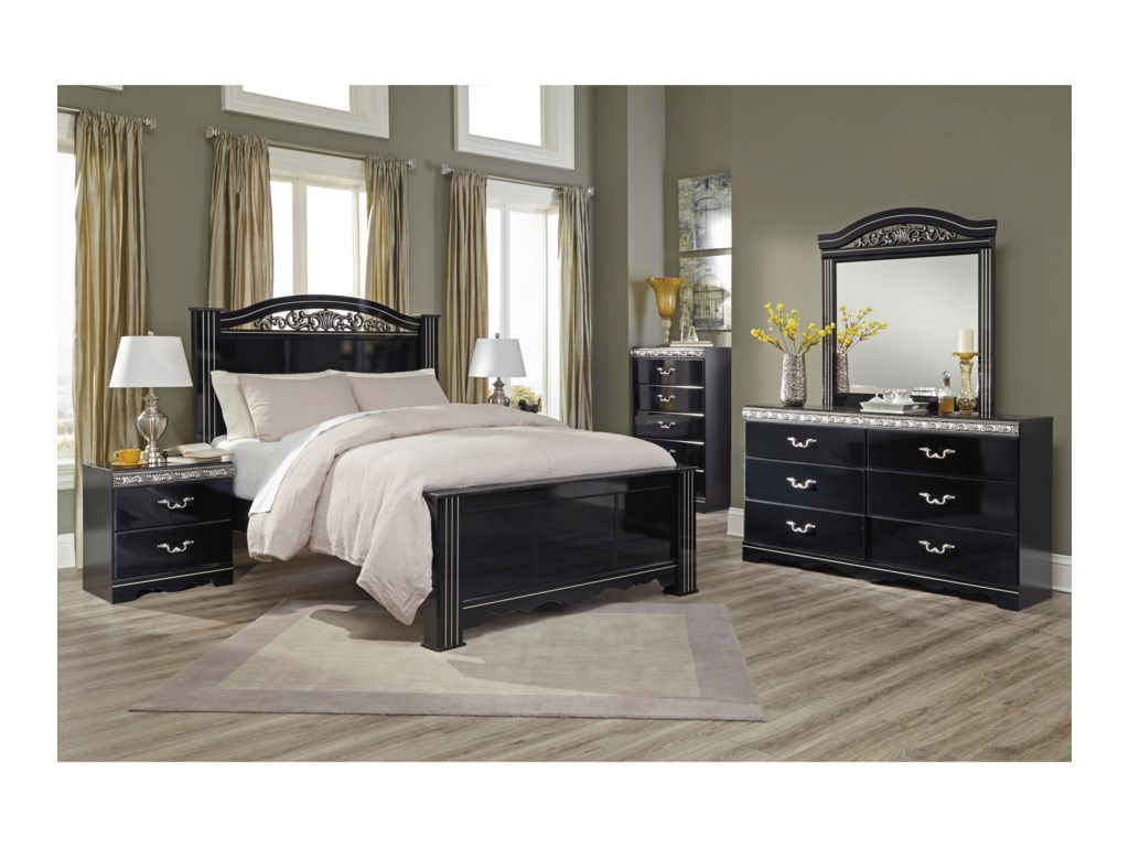 Signature Design by Ashley ConstellationsKing Poster Bed