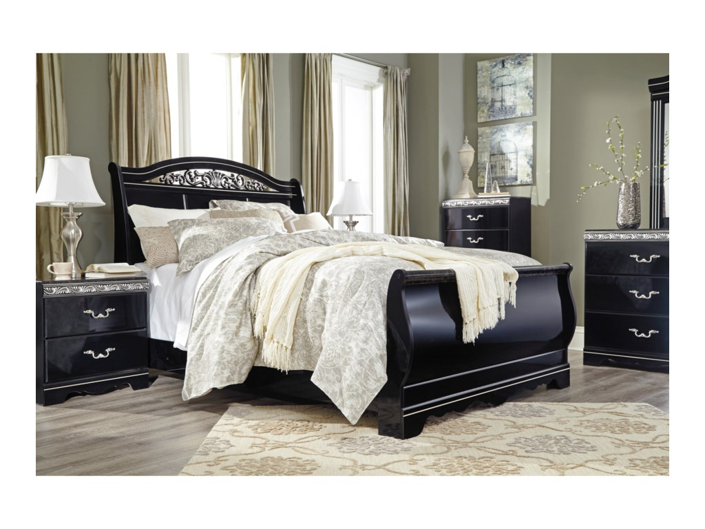 Signature Design by Ashley ConstellationsQueen Sleigh Bed