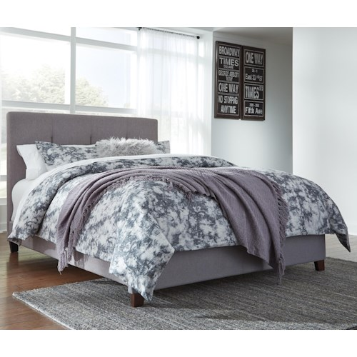 Signature Design By Ashley Contemporary Upholstered Beds Queen Upholstered Bed With Channel