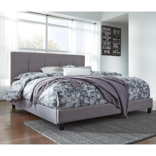 Signature Design By Ashley Contemporary Upholstered Beds King Upholstered Bed With Channel