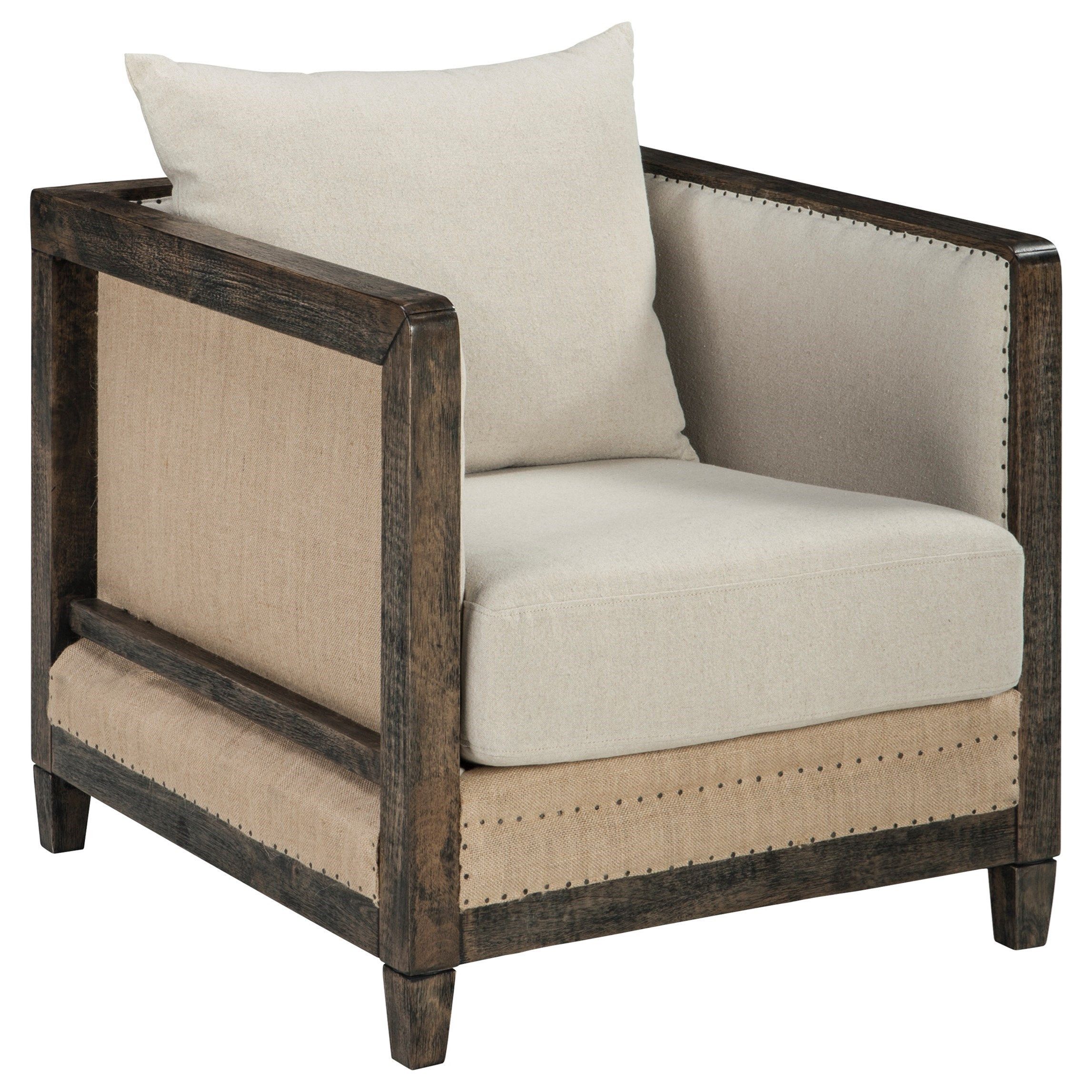 Signature Design by Ashley Copeland Deconstructed Style Linen Fabric Accent Chair with Wood Frame  sc 1 st  Royal Furniture & Signature Design by Ashley Copeland Deconstructed Style Linen Fabric ...