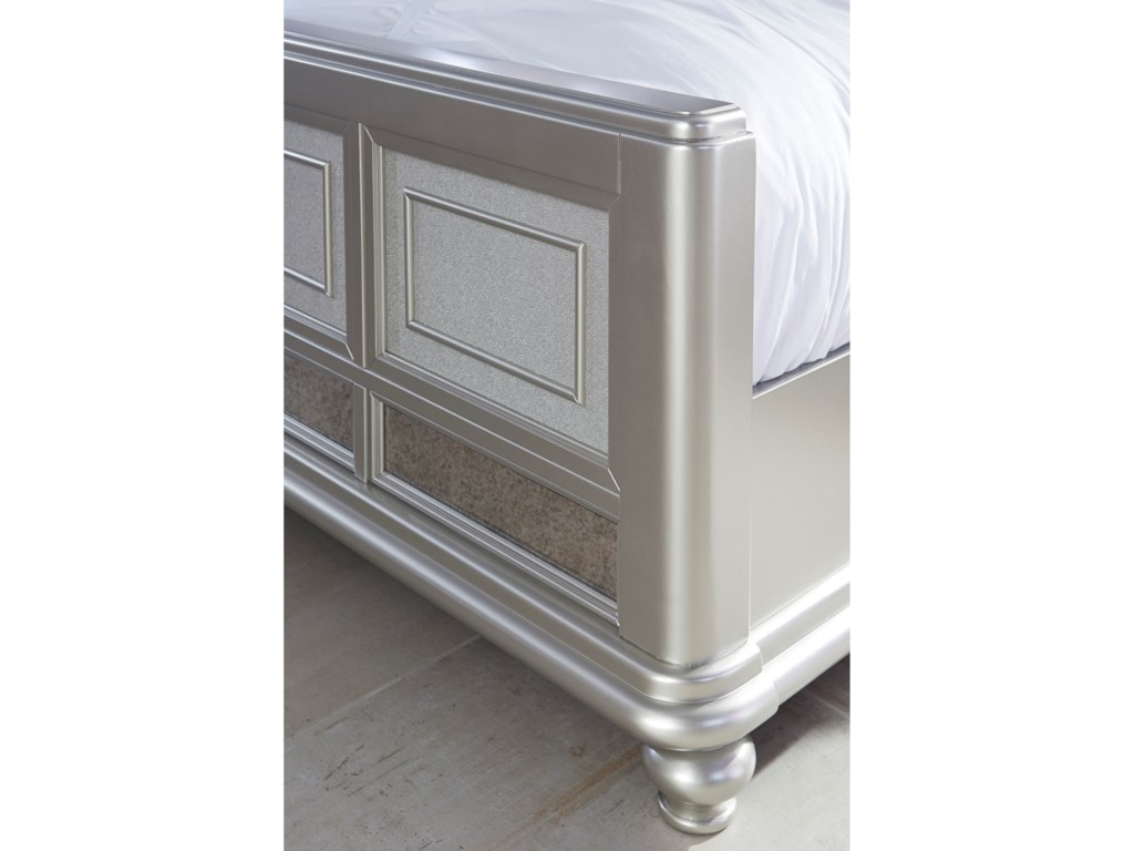 Signature Design by Ashley CoralayneKing Panel Bed with Upholstered Headboard