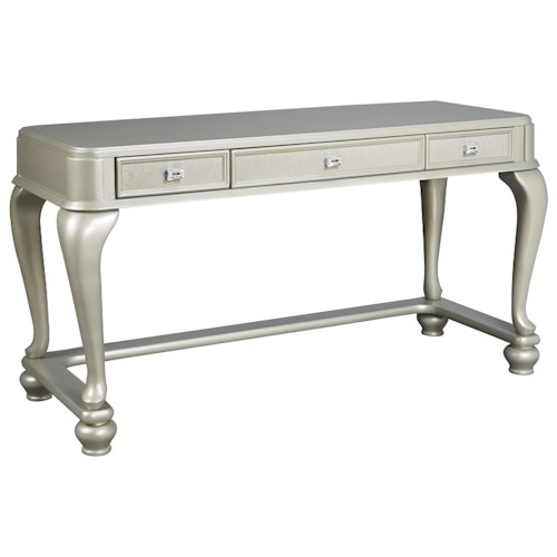 Signature Design by Ashley Coralayne Vanity Desk in Silver Paint Finish