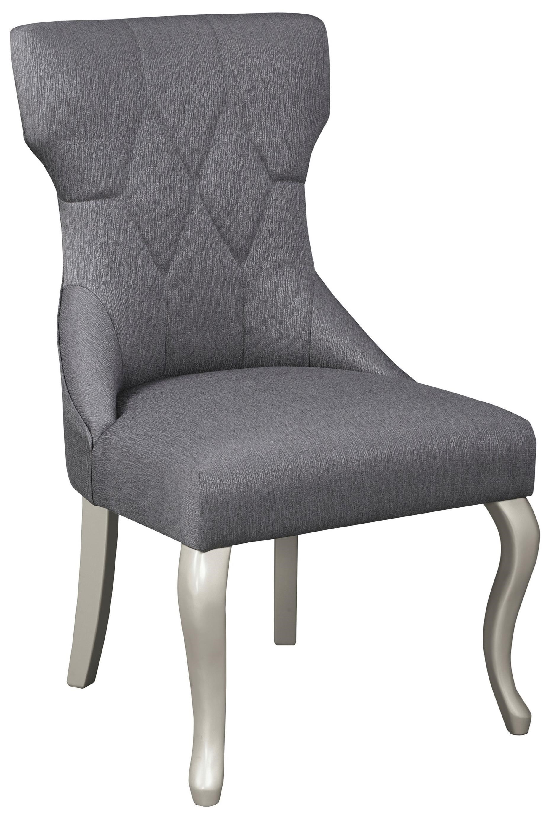 Ashley Signature Design Coralayne D650 01 Dining Upholstered Side Chair  With Silver Finish Legs | Dunk U0026 Bright Furniture | Dining Side Chairs