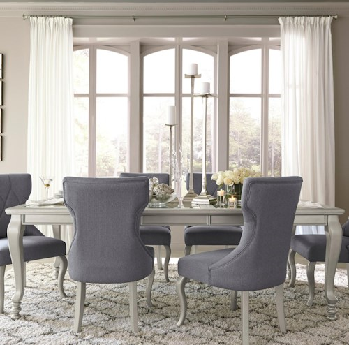 Signature Design by Ashley Coralayne 5-Piece Rectangular Dining Room Extension Table Set