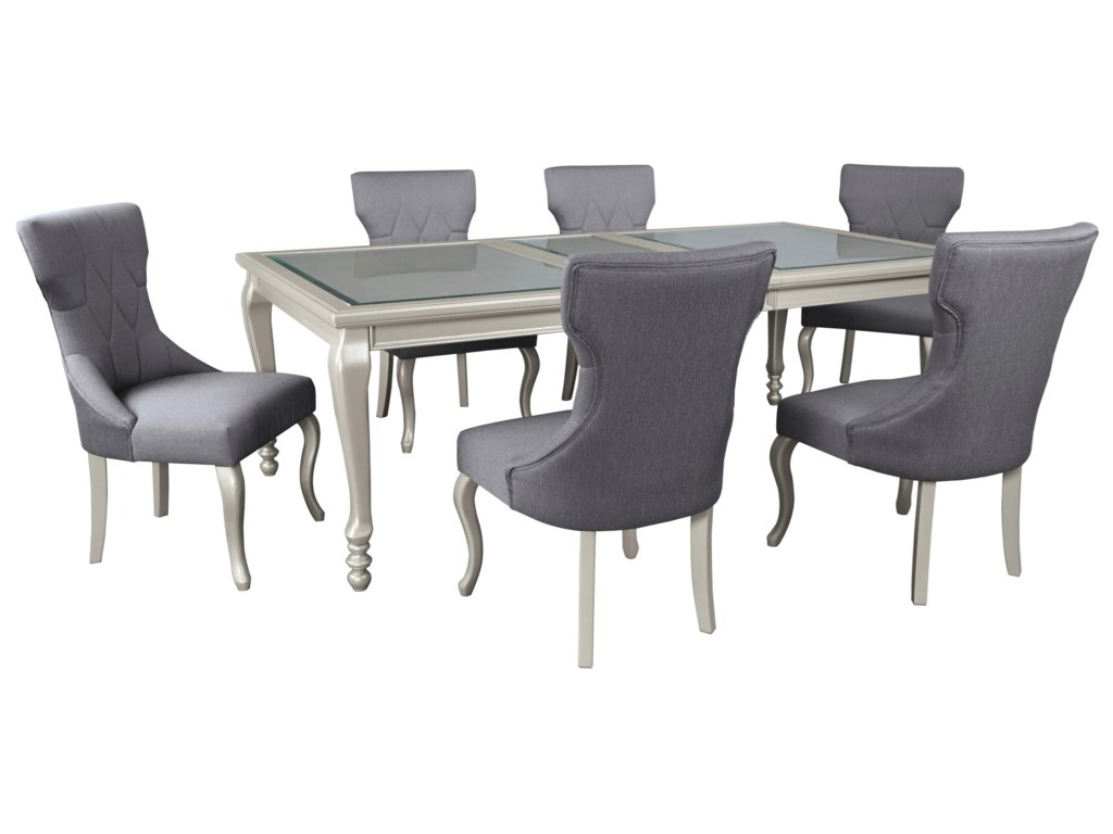 Signature Design by Ashley Coralayne7-Piece Rectangular Dining Room Table Set