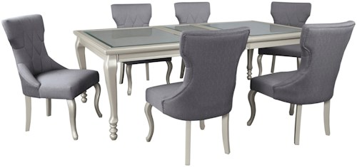 Signature Design by Ashley Coralayne 7-Piece Rectangular Dining Room Extension Table Set