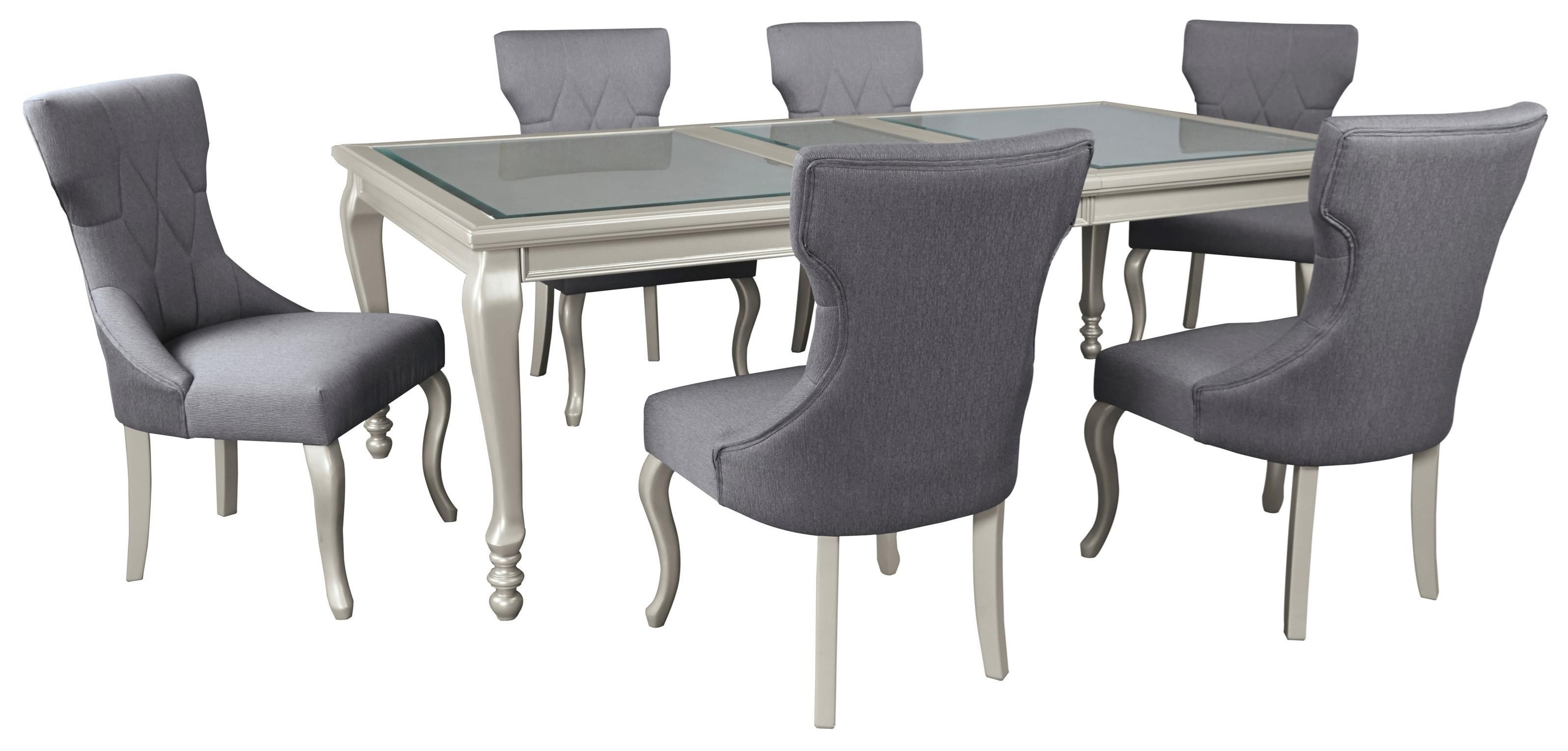 Signature Design By Ashley Coralayne7 Piece Rectangular Dining Room Table  Set ...