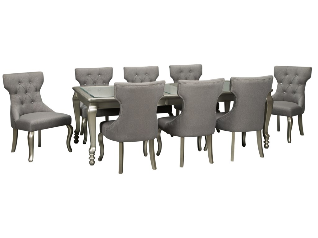 Signature Design by Ashley Coralayne9-Piece Rectangular Dining Room Table Set
