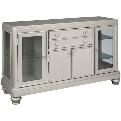 Styleline Coralayne D650 60 Dining Room Server With Glass Doors