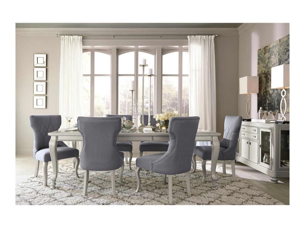 Coralayne D650 60 Dining Room Server with Glass Doors   Silver Finish by  Signature Design by Ashley. Signature Design by Ashley Coralayne Dining Room Server with Glass