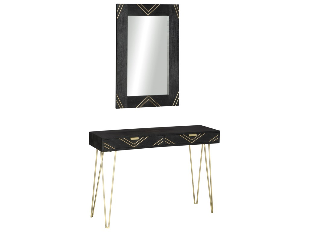 Signature Design by Ashley CoramontConsole Table & Mirror