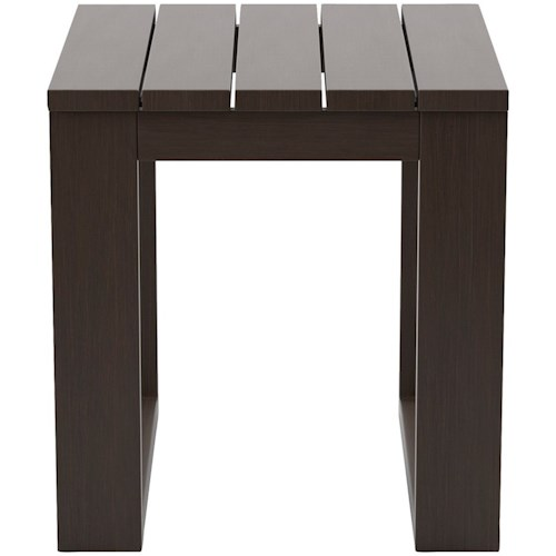 Signature Design by Ashley Cordova Reef Square Slat Top End Table