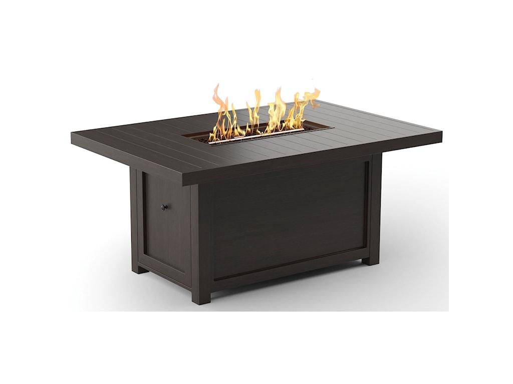 Signature Design by Ashley Cordova ReefRectangular Fire Pit Table