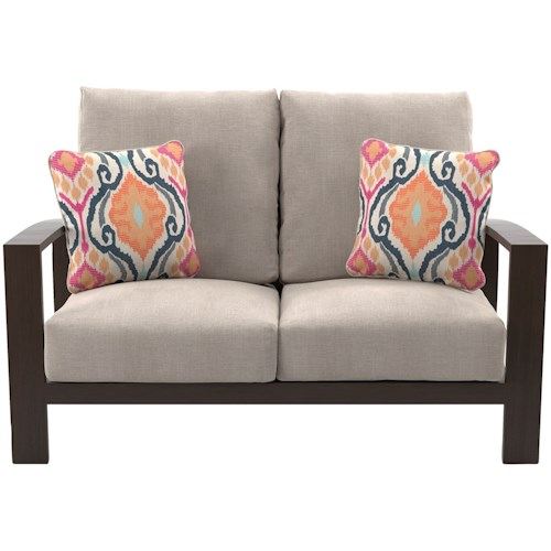 Signature Design by Ashley Cordova Reef Outdoor Loveseat with Cushions