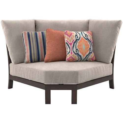 Signature Design by Ashley Cordova Reef Curved Corner Chair with Cushion