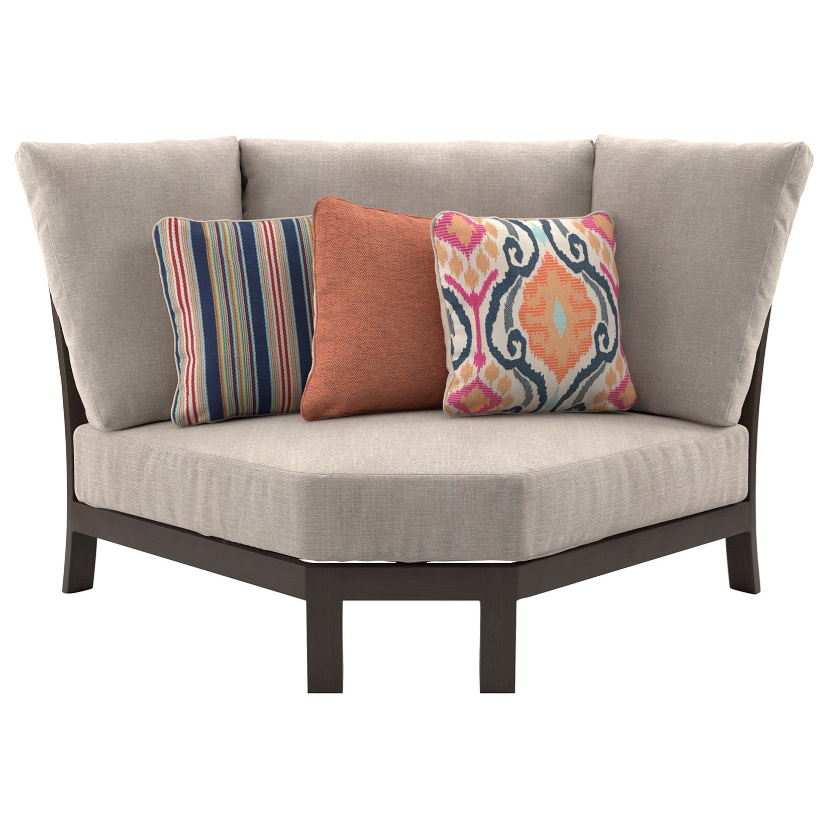 Trendz Coral OasisCurved Corner Chair With Cushion ...