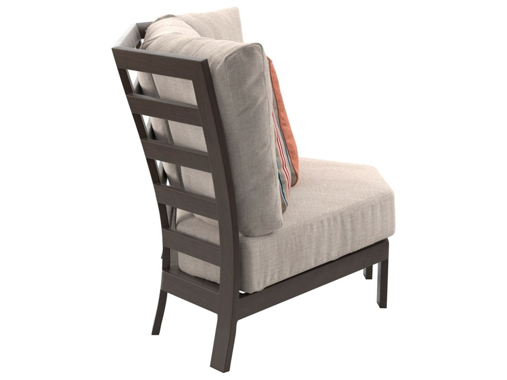 Signature Design by Ashley Cordova ReefCurved Corner Chair with Cushion