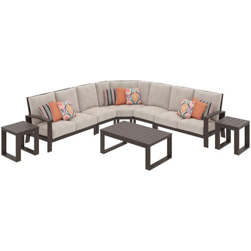 Signature Design by Ashley Cordova Reef Outdoor Sectional Group