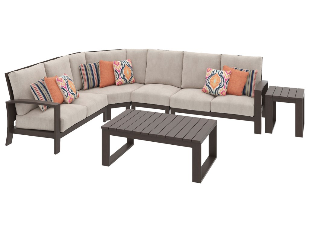 Signature Design by Ashley Cordova ReefOutdoor Sectional Group