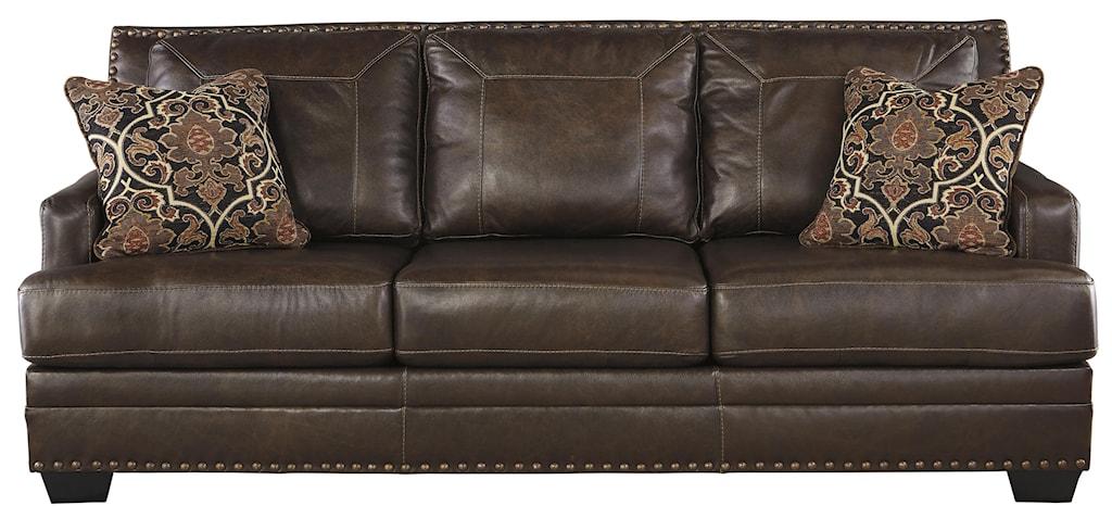 Sofa Seat Designs signature designashley corvan leather match sofa with coil