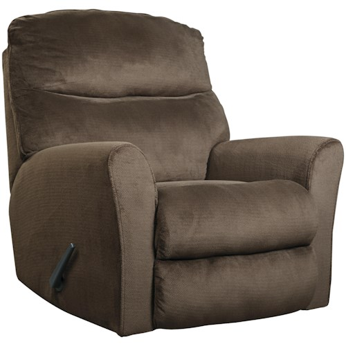 Signature Design by Ashley Cossette Casual Contemporary Rocker Recliner with Flared Arms