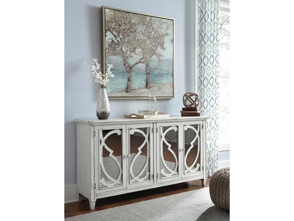 Signature Design by Ashley Mirimyn T505-562 Door Accent Cabinet in ...