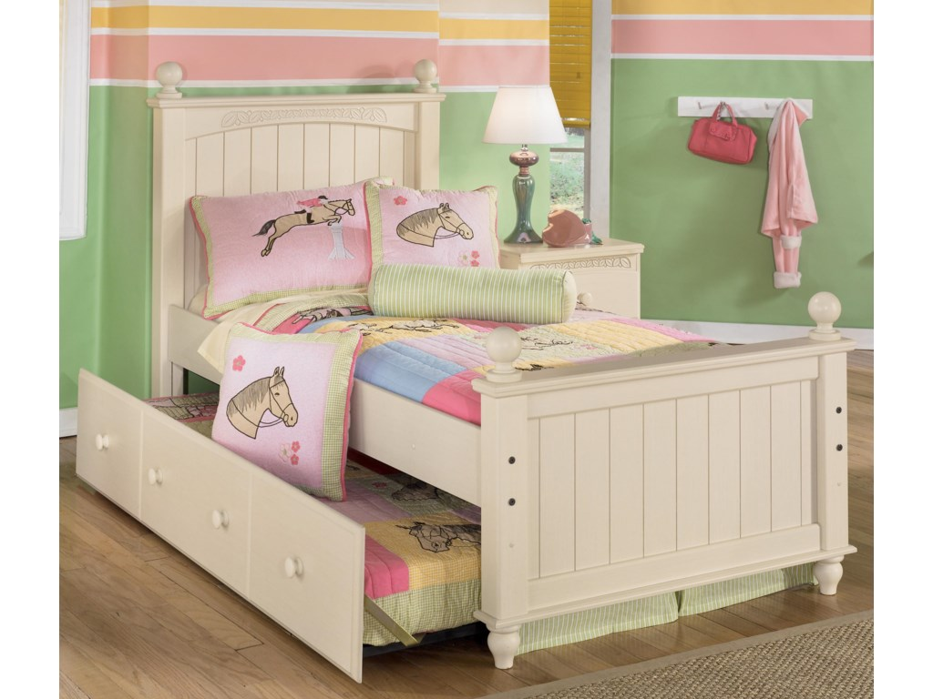 Signature Design by Ashley Cottage RetreatTwin Poster Bed with Trundle