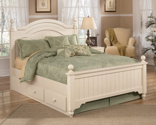 full cottage retreat kids bed sleigh furniture ashley