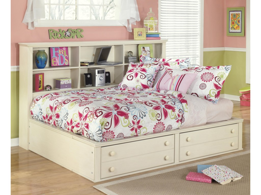Signature Design by Ashley Cottage RetreatFull Bookcase Bed with Footboard Storage