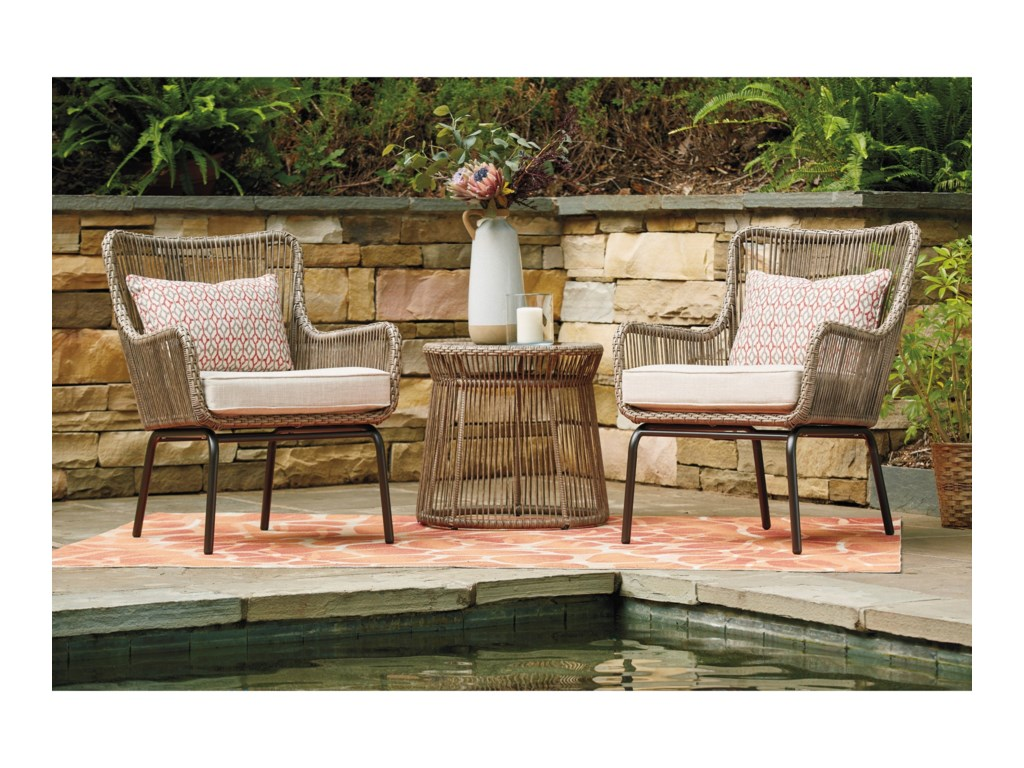 Benchcraft Cotton Road3-Piece Chair and Table Set