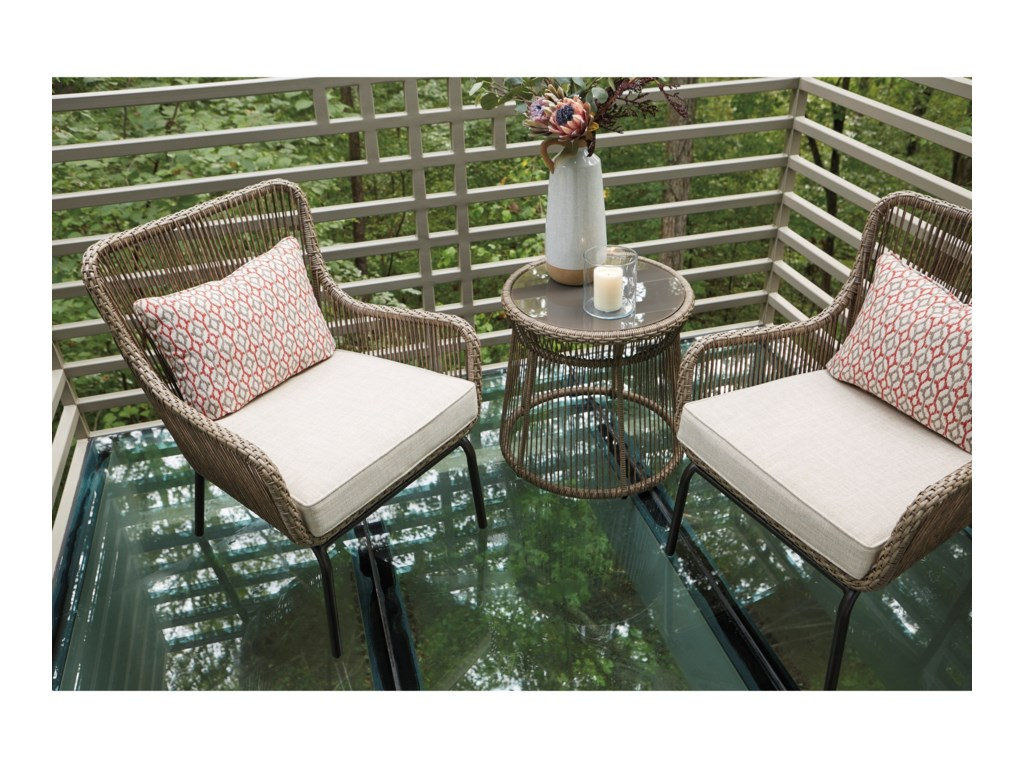 Signature Design by Ashley Cotton Road3-Piece Chair and Table Set