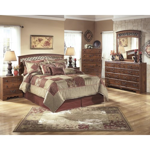 Signature Design by Ashley Timberline Queen/Full Bedroom Group