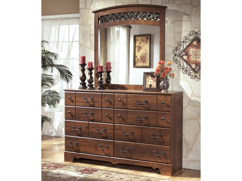 Signature Design by Ashley Timberline8 Drawer Dresser and Mirror Set