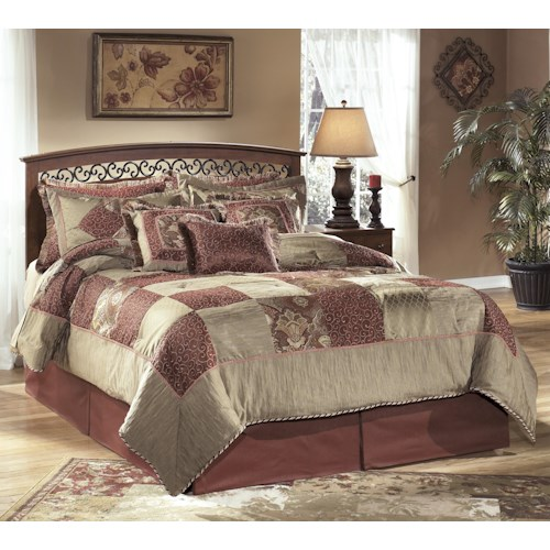 Signature Design by Ashley Timberline Full/Queen Arched Panel Headboard Bed