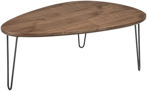 Signature Design by Ashley Courager Triangle Cocktail Table with Hairpin Legs