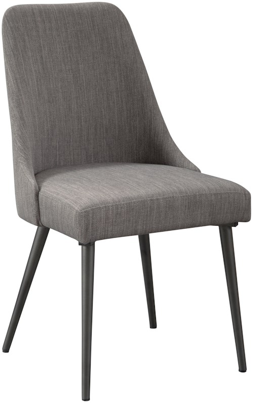 Signature Design by Ashley Coverty Fully Upholstered Side Chair in Textural Gray