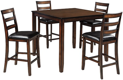 Signature Design by Ashley Coviar Burnished Brown 5-Piece Dining ...