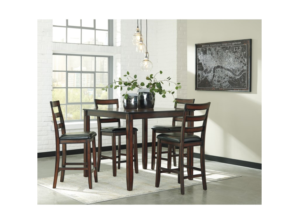 Signature Design by Ashley Coviar5-Piece Dining Room Counter Table Set
