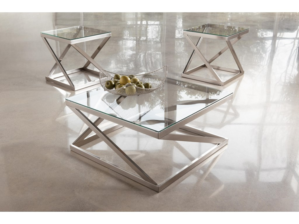 2 End Tables Shown with Cocktail Table