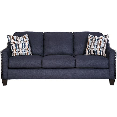 Benchcraft Creeal Heights Memory Foam Sofa Sleeper with Nailhead Studs