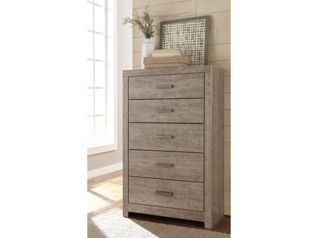 Colton Contemporary Dresser Chest With 5 Drawers Ruby Gordon Home Drawer Chests