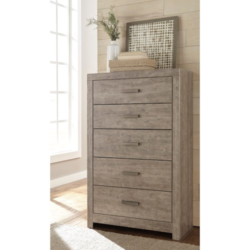 Signature Design by Ashley Culverbach Contemporary Dresser Chest with 5 Drawers