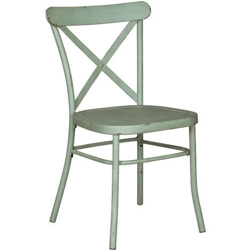 Signature Design by Ashley Minnona Light Green Dining Room Side Chair