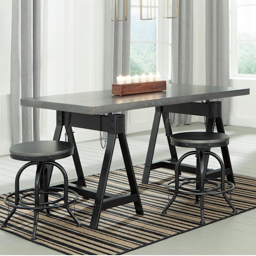 Signature Design by Ashley Minnona 3 Piece Adjustable Dining Set